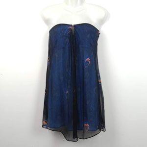 Elizabeth & James | Peacock Cocktail Dress Mini